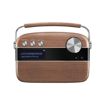 CARVAAN Music Player With Remote-Oakwood Brown