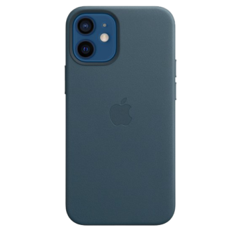 Mini Leather Case with MagSafe - Baltic Blue for iPhone 12