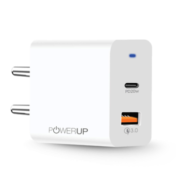 Powerup - Max 20W Type C-Wall Charger-White